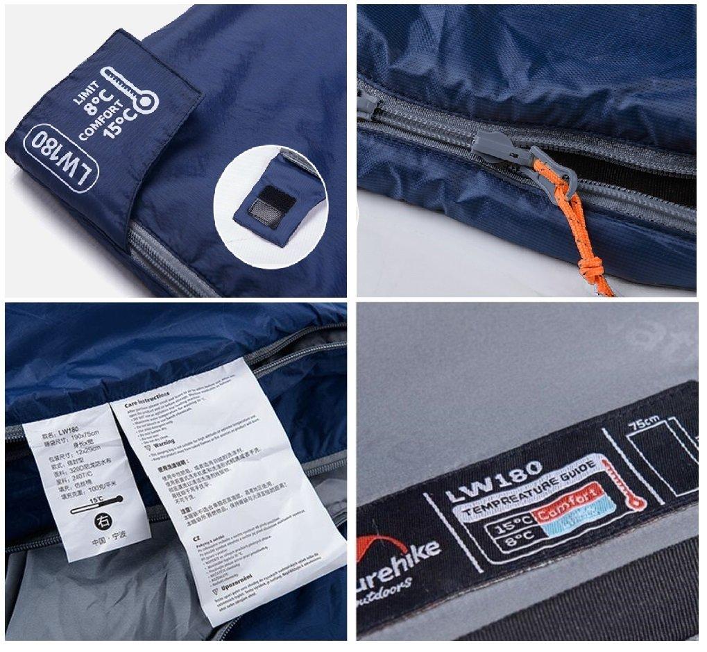Sunuo Ultra-Light Envelope Travel Sleeping Bags,Outdoor Climbing Camping Portable Thin Waterproof Sleeping Bags
