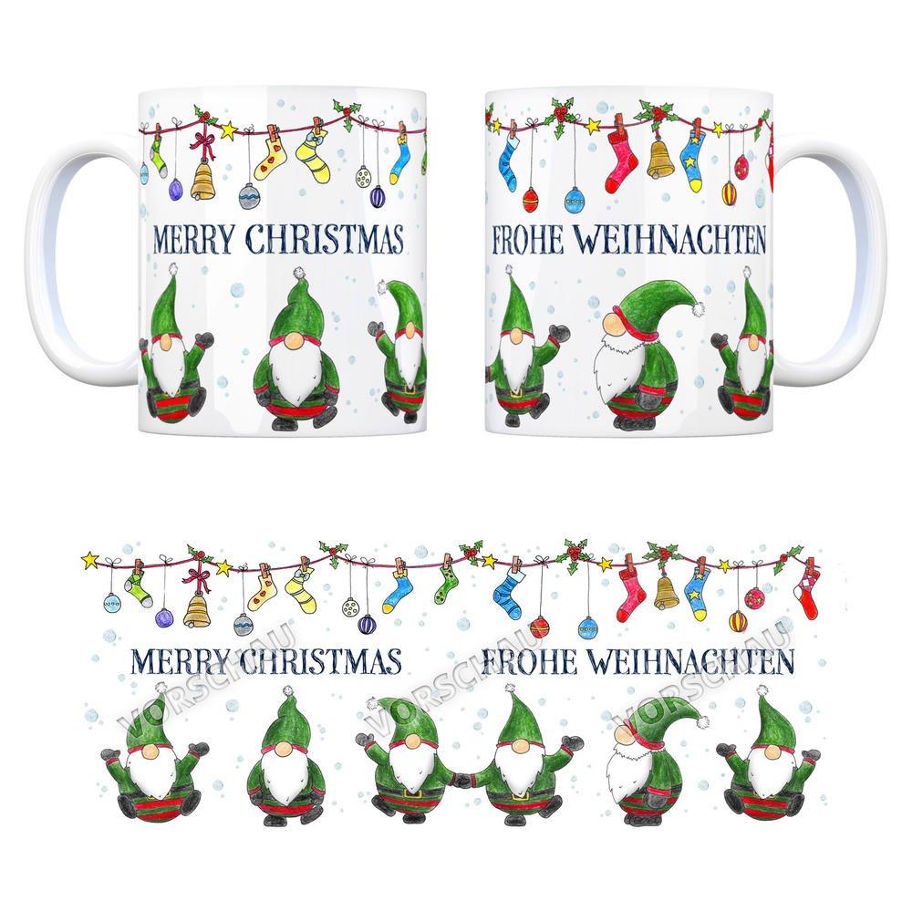 trendaffe - Kaffeebecher mit Wichtel Weihnachtsmotiv und Spruch ...