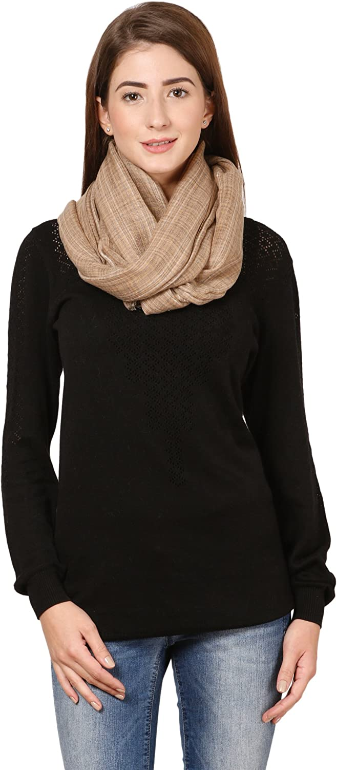 CG-0058-PWRM, Beige,Camel Cashmere Cafsew Colours Womens Stole