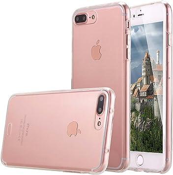 Lincivius Coque Integrale Compatible avec Apple iPhone 7 Plus, Coque de Protection 2 en 1 Bumper Transparent Silicone Avant Et Arrière Contour Bumper ...