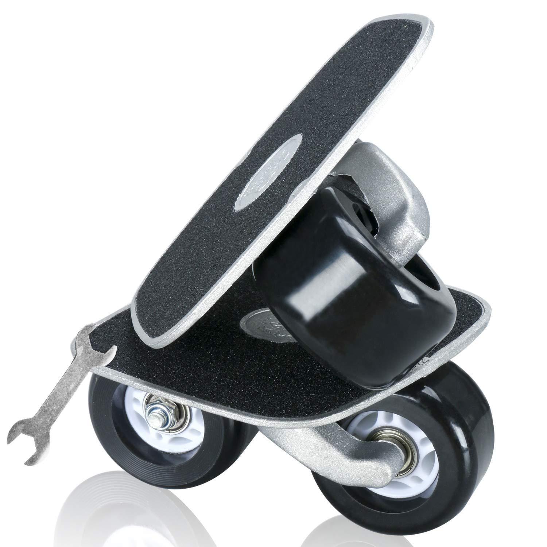 Yaesport Drift Roller Skate Skateboard Pu Wheels Aluminum Surface ABEC-7 Bearings