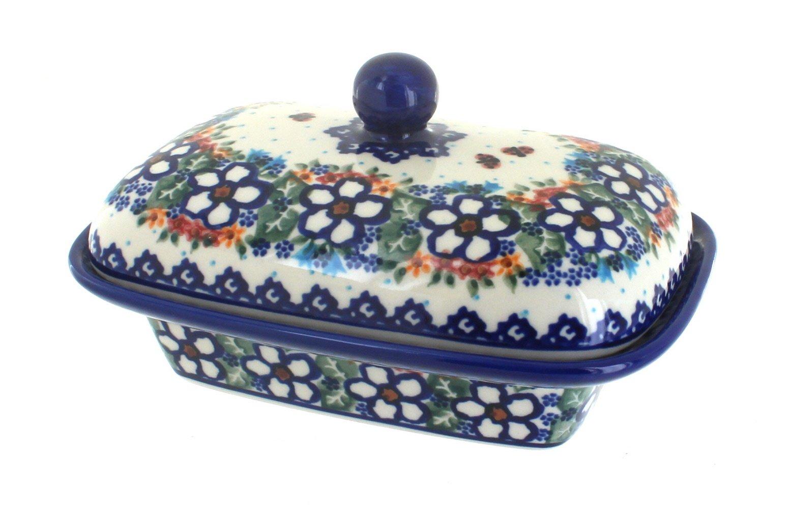 Polish Pottery Scarlett Butter Tub