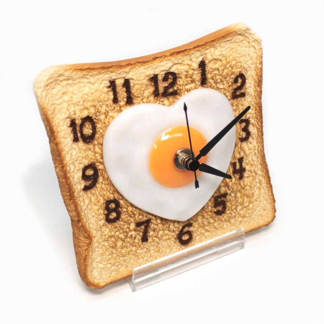 Real Gift ハートのエッグパン時計 SN04-3035 食品サンプル時計 アナログ 置時計 B01NAX8WGJ