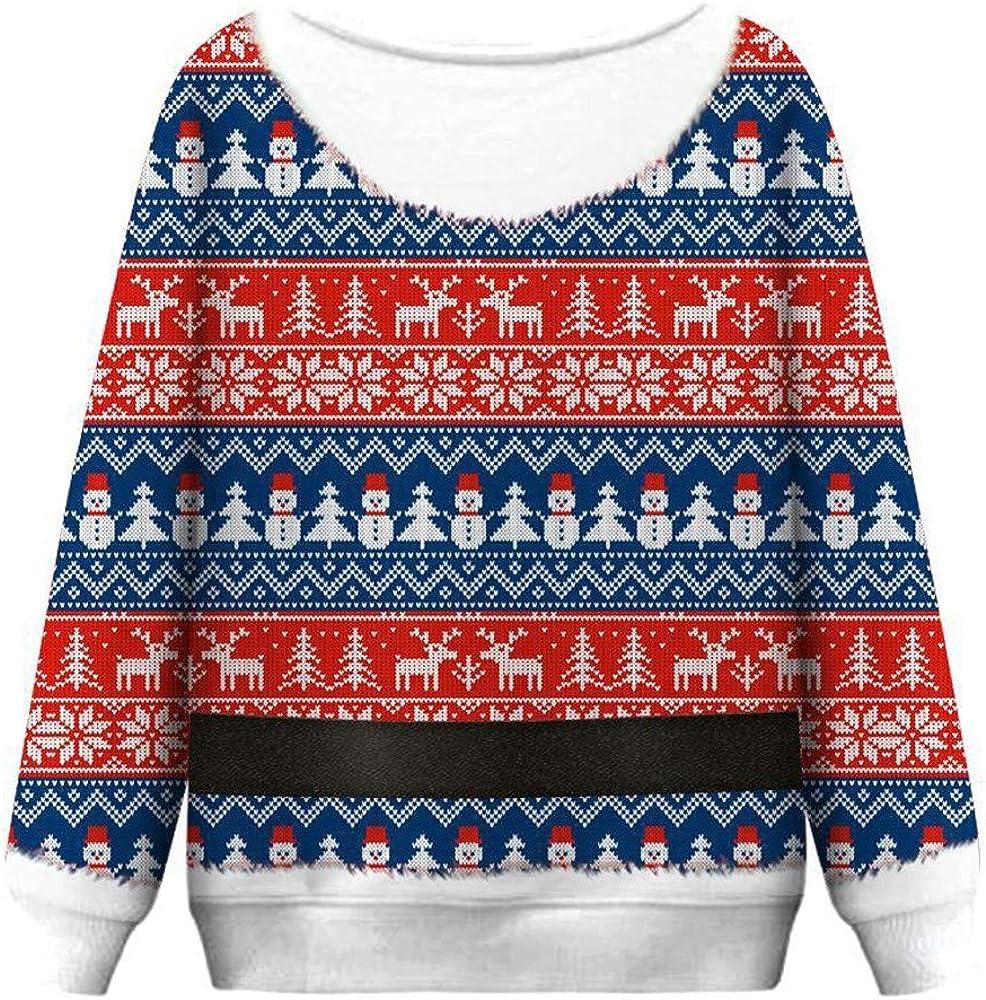 Sudaderas Mujer de Navidad Christmas Women Funny Print Sudadera de ...