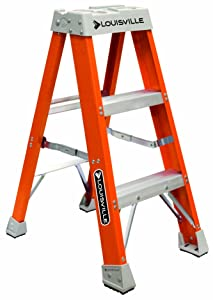 Louisville Ladder FS1503 300-Pound Duty Rating Fiberglass Step Ladder, 3-Feet