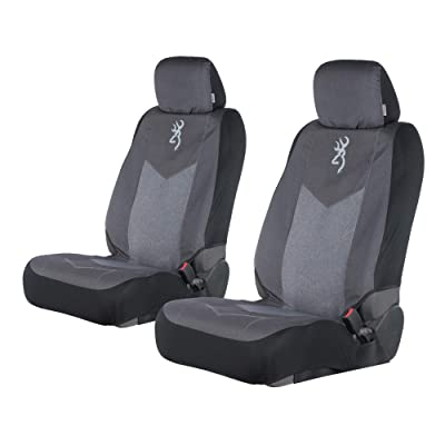 Browning Chevron Seat Cover | Low Back | Heather Black | 2 Pack : Clothing