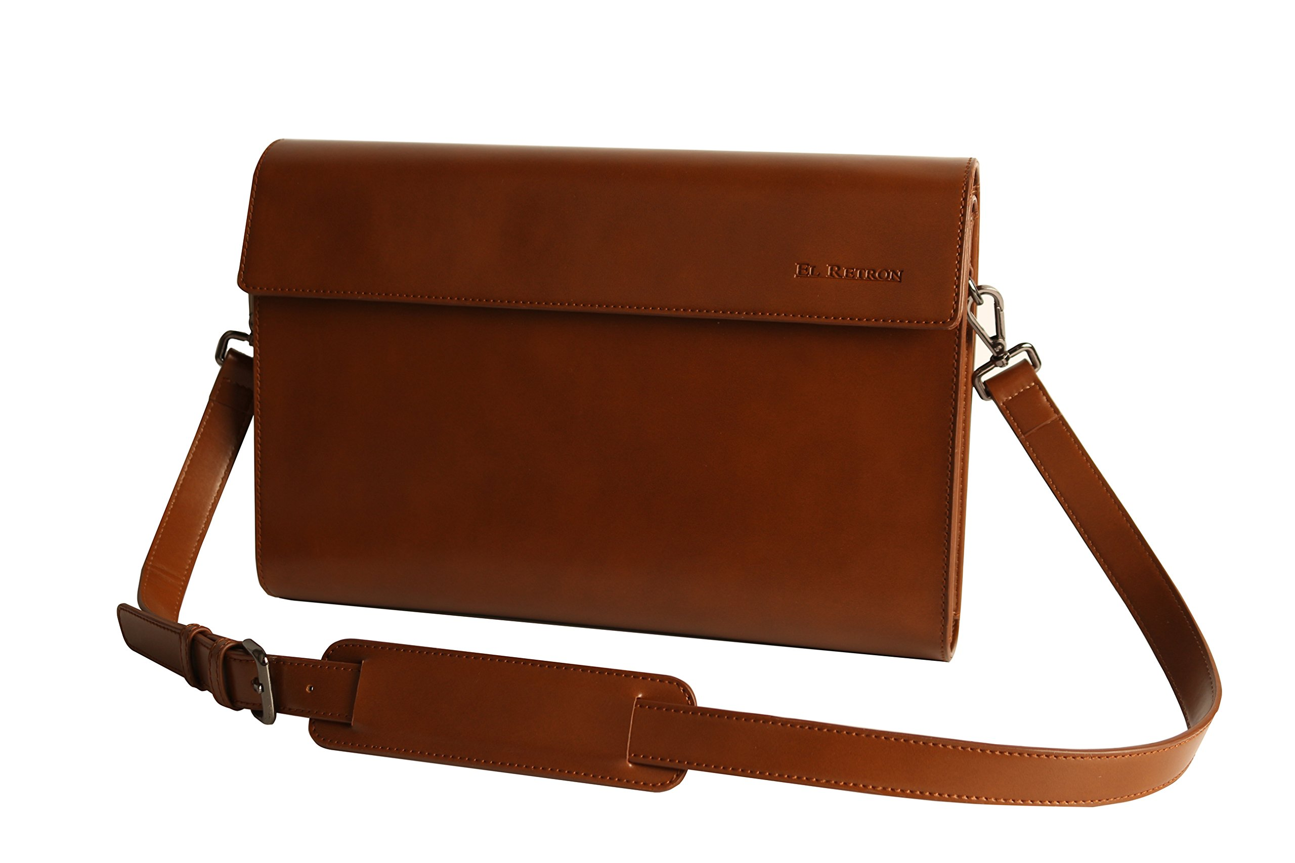 Penna Tablet Pouch Sleeve Bag Penna Keyboard Accessory Pocket ~12 inch, Vintage Leather Style(PVC)(Brown)