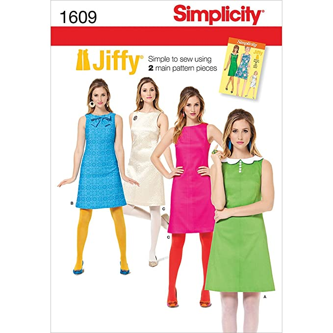 1960s Sewing Patterns | 1970s Sewing Patterns Simplicity 1609 Womens Vintage Dress Sewing Patterns Sizes 14-22 $10.80 AT vintagedancer.com