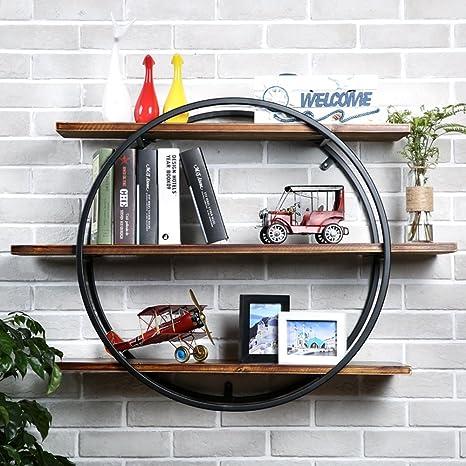 Scaffale da parete in legno massello sospeso da soggiorno, libreria ...