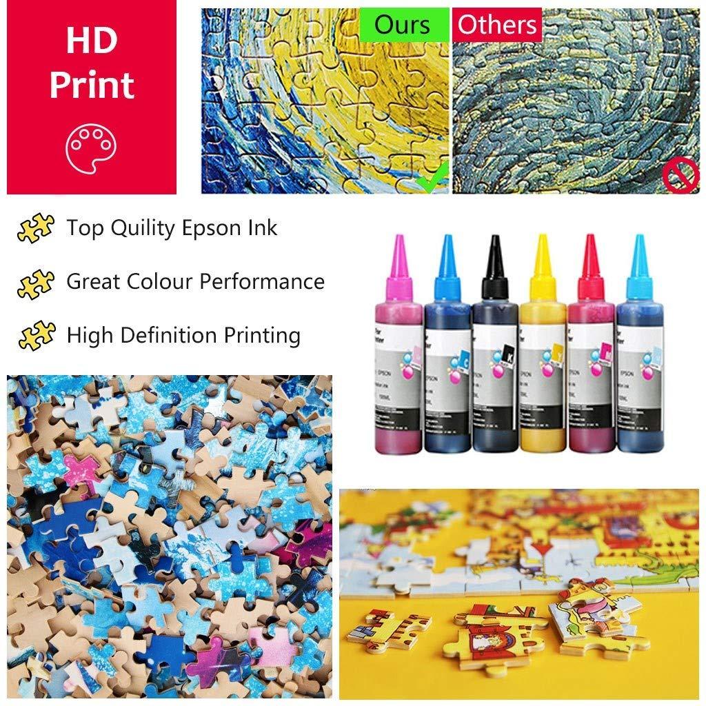 500/1000 Stücke Puzzles Fantasie Cartoon Puzzle Malerei DIY Kreativität Stellen Sie Sich Kunst Spielzeug Set Für Kinder Erwachsene Entwickeln Geduld Fokus Reduzieren Druck,500PCS Puzzles