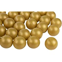 Juvale Beer Pong Balls - 50-Pack Gold Ping Pong Balls, Plastic Golden Table Tennis Ball, Drinking Games Accessories, Perfect for Champagne Pong, 1.5 Inches, Fits 2-Ounce Shot Cup