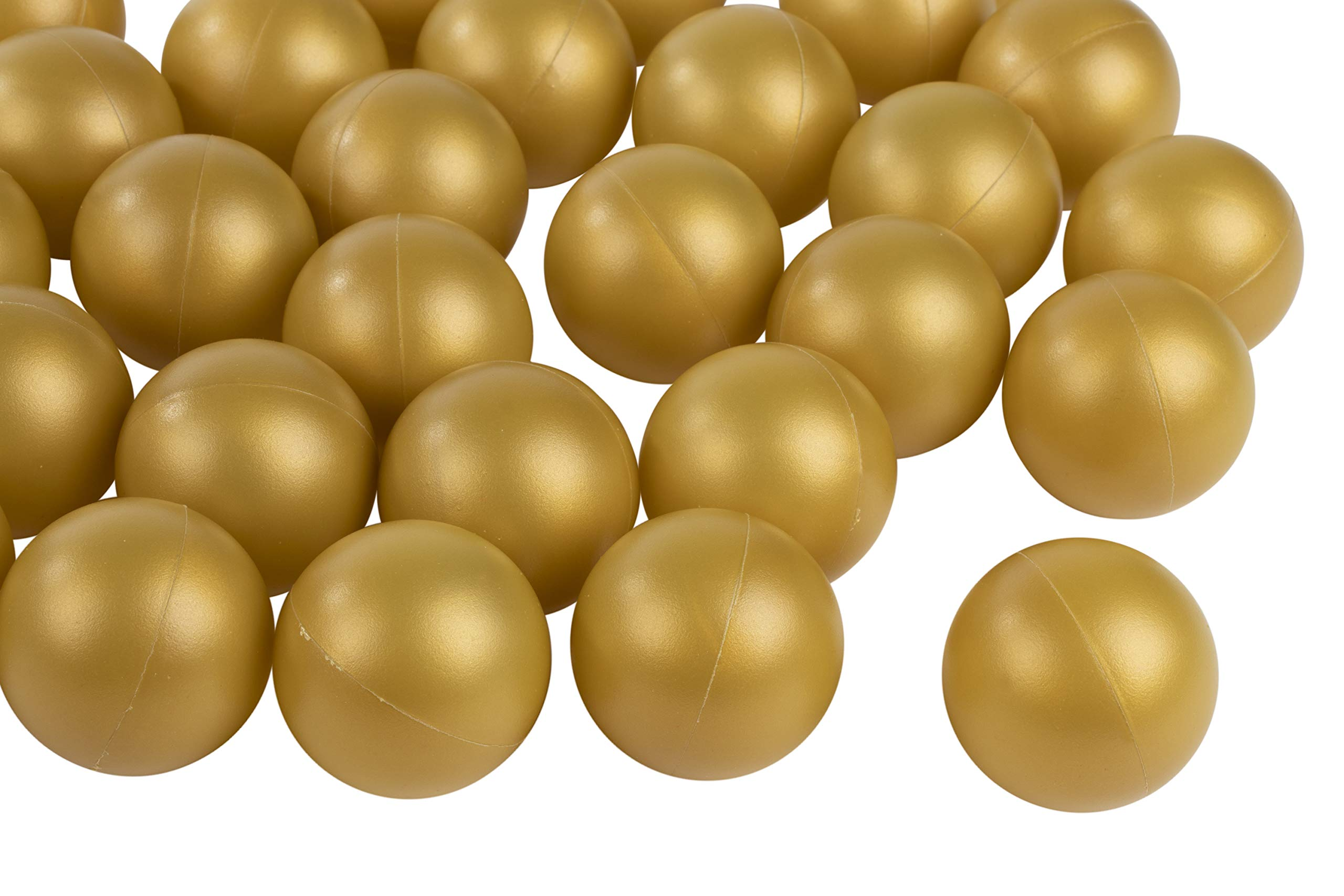 Juvale Beer Pong Balls - 50-Pack Gold Ping Pong Balls, Plastic Golden Table Tennis Ball, Drinking Games Accessories, Perfect for Champagne Pong, 1.5 Inches, Fits 2-Ounce Shot Cup by Juvale