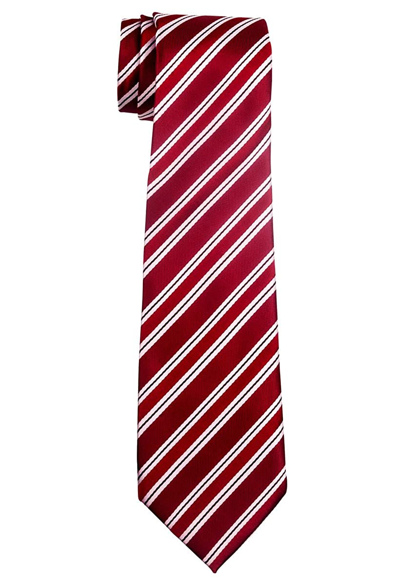 Preppy Stripe Pattern Woven Boy's Tie - 8-10 years - Various Colors RTZ-KDTIE-0025-BLE