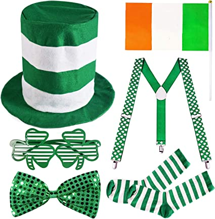 Irish St Patricks Paddys Fancy Dress Socks Leprechaun Clover Tutu