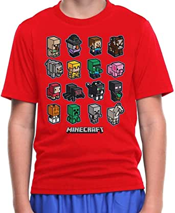 MINECRAFT video Game Steve mini MOBS charged New BOY/'S Youth T-Shirt