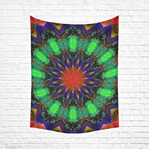 Unique Debora Custom Wall Tapestry Cotton Linen Tapestry Wall Art Love Mandala Hippie 60x51 Inch WR-14