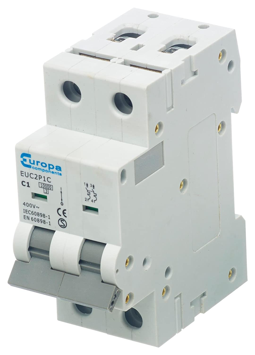 CIRCUIT BREAKER 2 POLE 50A 230VAC////CIRCUIT BREAKER 2 POLE 50A 230VAC Circuit Breaker Mounting DIN Rail Current////EUC2P50C PK OF 1