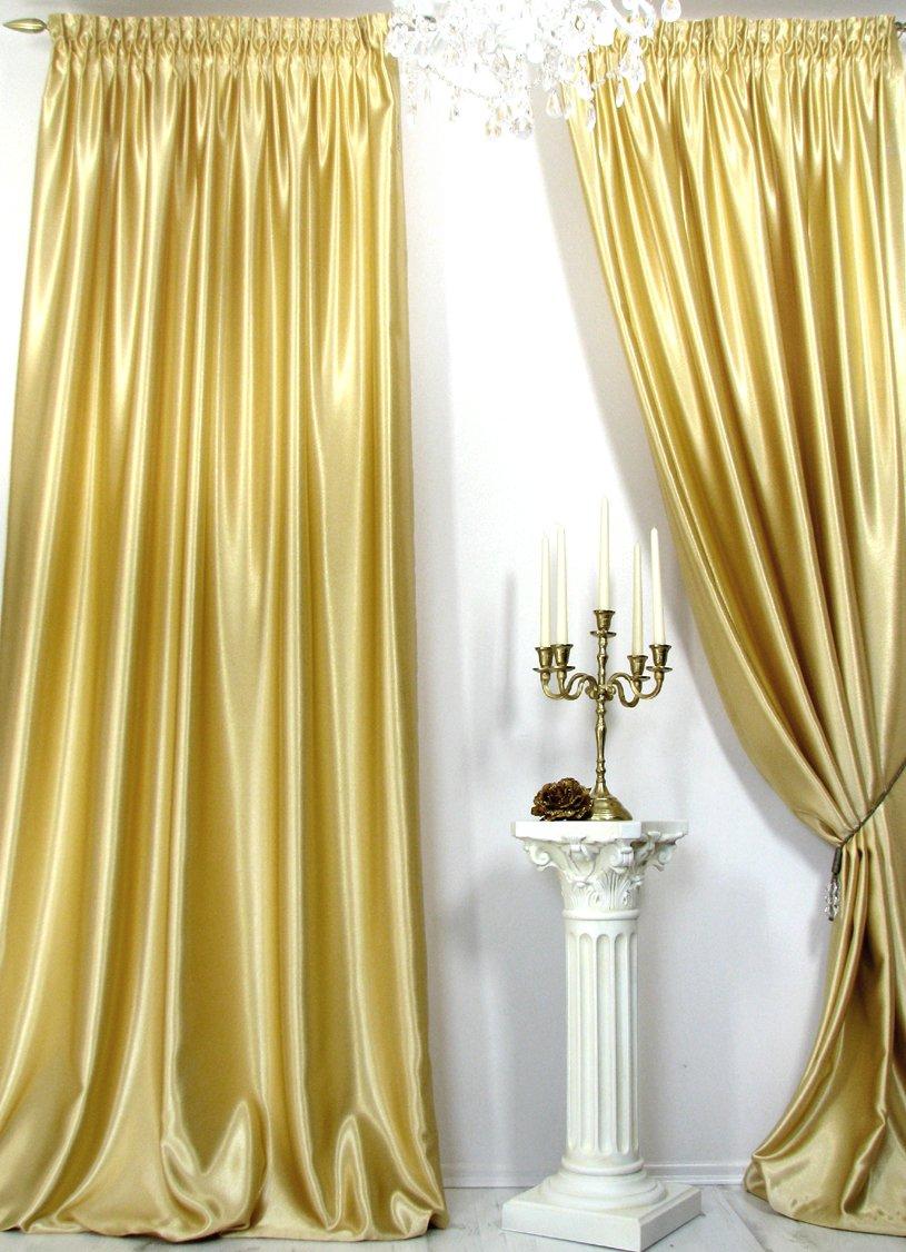 Vorhänge, 1 Satin-Vorhang *Gold* der Marke Trendoro. Maße: 150 x 260 ...