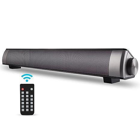 amazon com sound bar tv soundbar wired and wireless bluetooth home