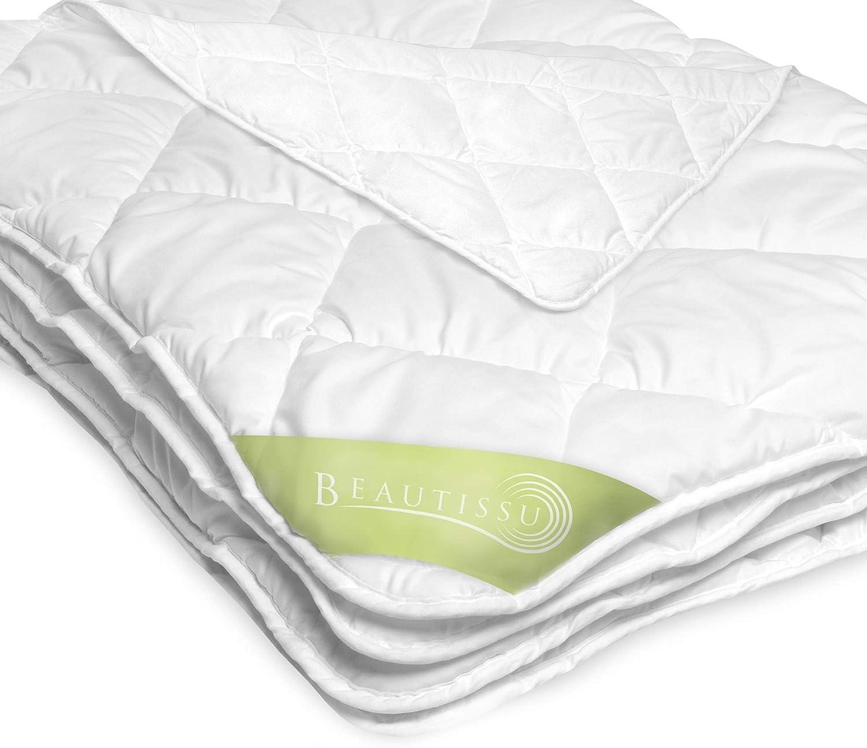 Beautissu BeaNuit MD Bettdecke 12x12 cm – Warme Microfaser Schlafdecke  für Allergiker geeignet – Atmungsaktive Steppdecke für das ganze Jahr
