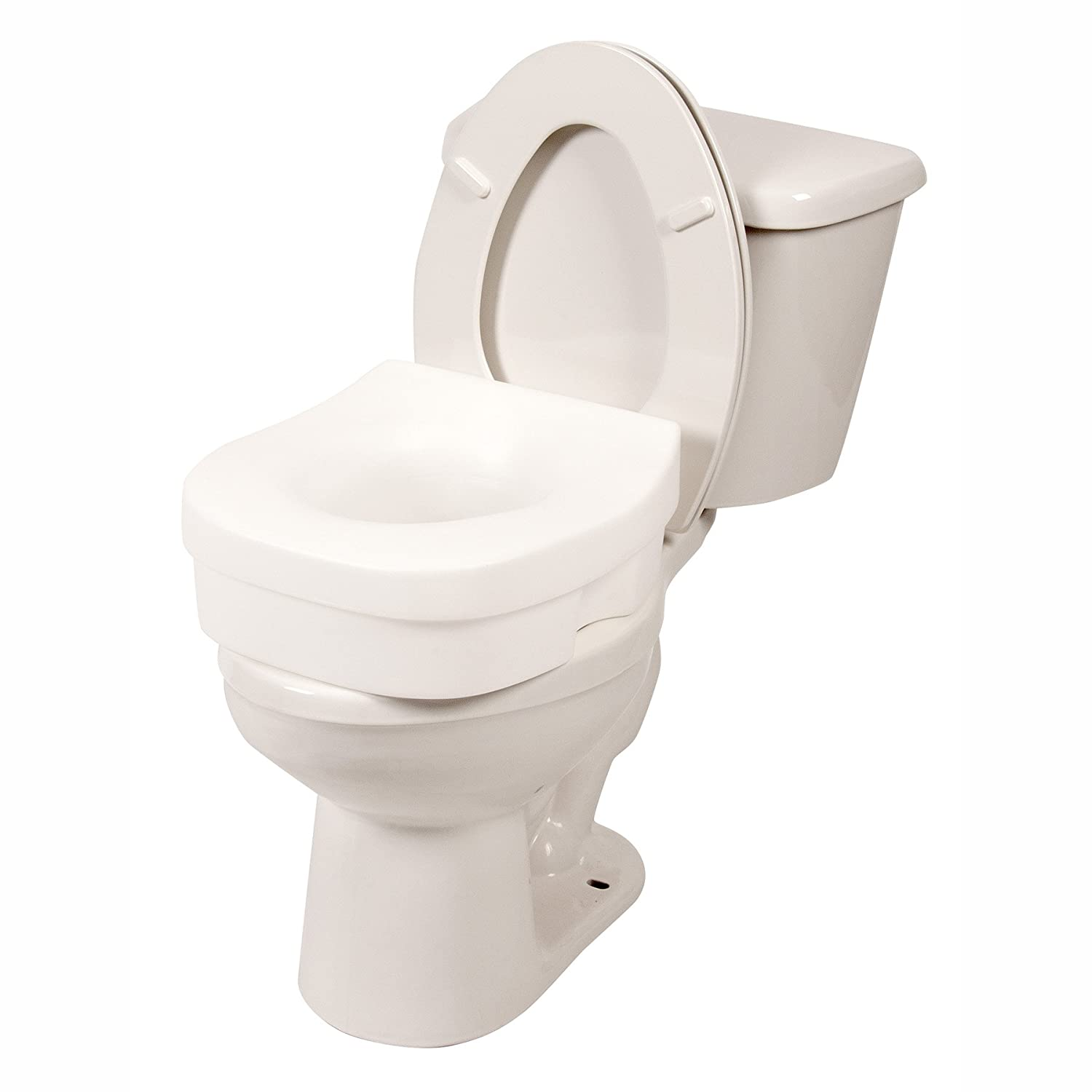 Phenomenal Pcp 5 Toilet Seat Riser With Discreet Traveling Carry Bag Contour Molded Elevated Safety Seat Commode Riser Caraccident5 Cool Chair Designs And Ideas Caraccident5Info