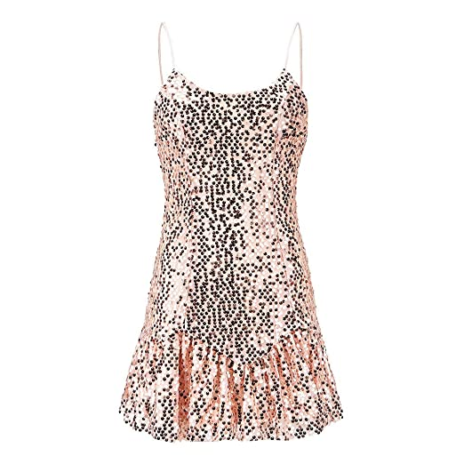 68bbfc8eef49b8 Amazon.com  Women Tank Top CieKen 2019 Womens Sparkle Gradient Sequin  Embellished Tank Top Sleeveless  Clothing