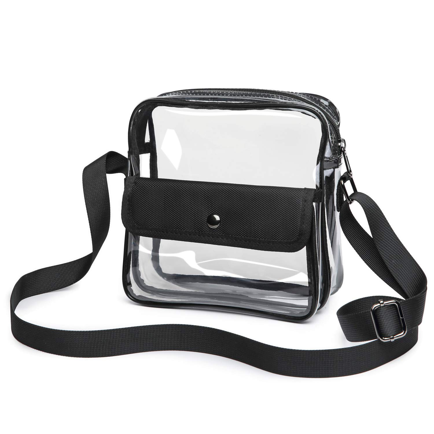 57f26391f4f90 Clear Purse Stadium Approved for NFL, PGA, Clear Crossbody Bag for Rolling  Stones Hamilton Concert Women Men Work School