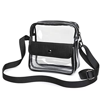 3b5dc6c62a93 Clear Purse Stadium Approved for NFL, PGA, Clear Crossbody Bag for Rolling  Stones Hamilton Concert Women Men Work School