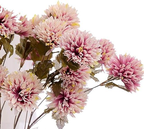 Amazon Com Artificial Dahlia Stem Faux Spider Dahlia Flower Silk
