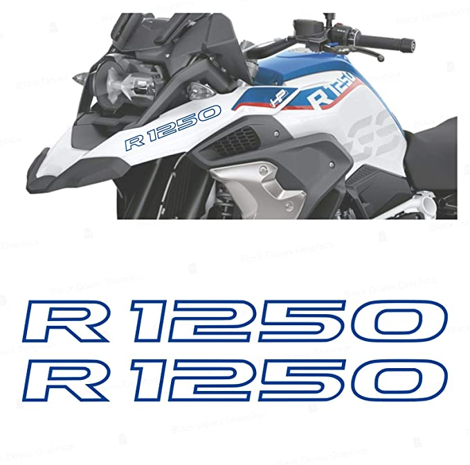 2pcs Aufkleber R1250 Kompatibel Für Motorrad Bmw R1250 Gs R 1250 Hp Adventure Blue Auto