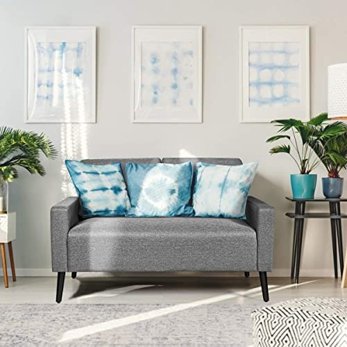 POWERSTONE Mid-Century Loveseat Fabric Modern Upholstered Sofa Couch