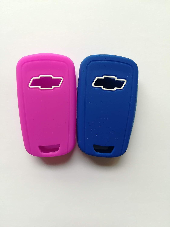 Silicone Protective Bag Holder Fob Skin Key Cover Jacket Protector for 2012-2016 Chevrolet Malibu Camaro Cruze Equinox Impala Sonic Spark Volt OHT01060512 5461A-01060512 Flip Key 4Bts 2 Qty