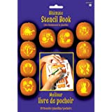 """Pumpkin Carving Stencil Book Halloween Trick or Treat Party Activity, Paper, 10"""" x 7"""", Pack of 10."""