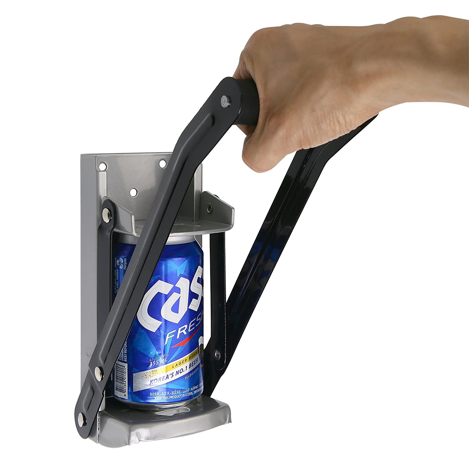 Aynoo 12 oz Can Crusher for Recycling/Bottle Opener Smasher, Crushes Soda Cans and Beer Cans Wall Mounted- Eco-Friendly Recycling Tool Heavy Duty Metal Can Crusher/Smasher (12oz Grey) Aynoo Inc.