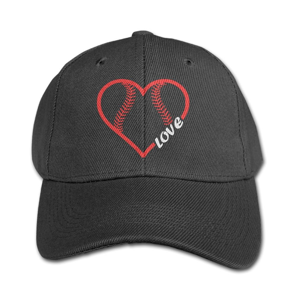 Baseball Softball Love Kids Adjustable Snapback Curved Visor Washed Dyed Cotton Ball Hat Toddler Baseball Cap