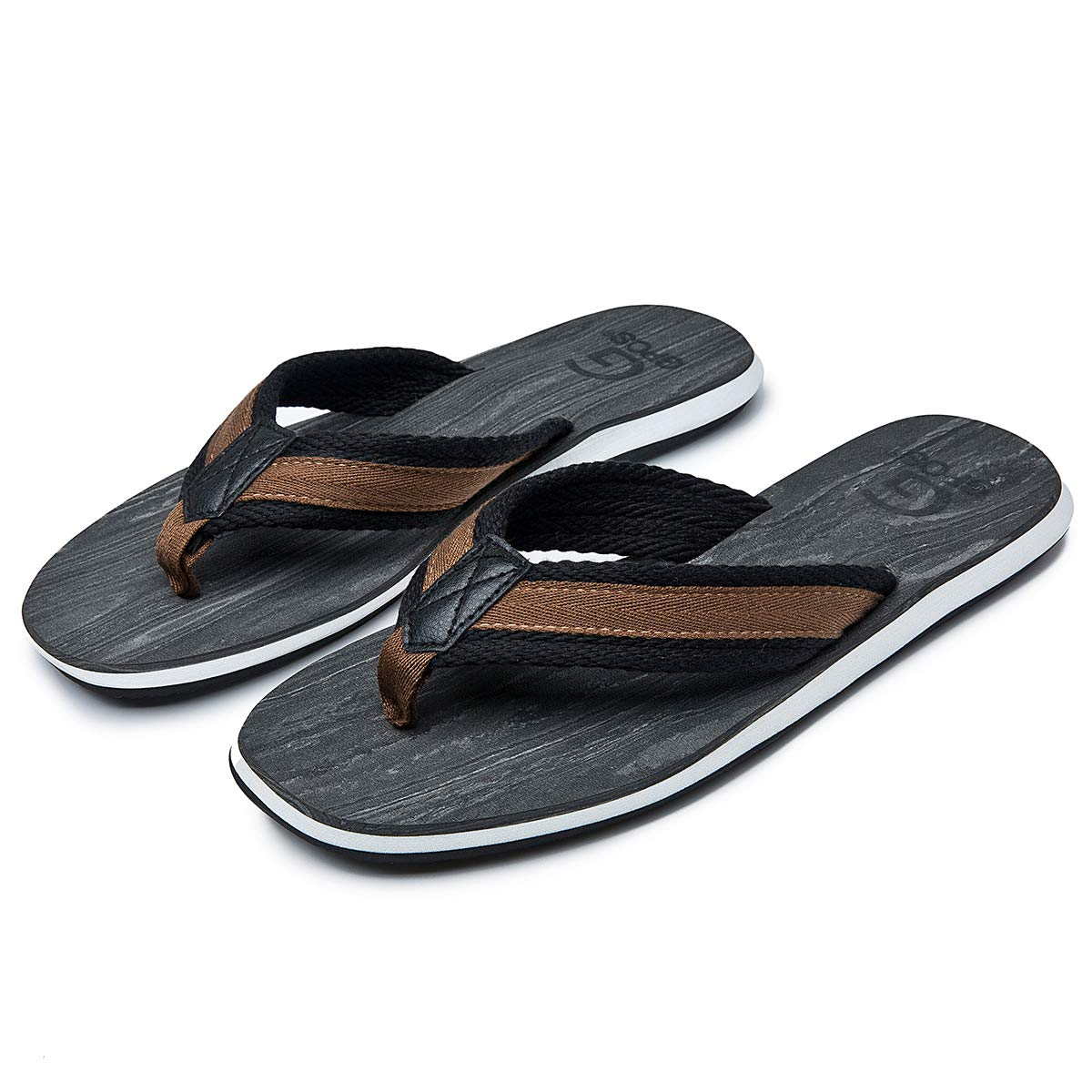 classcic more photos coupon codes Adokoo Mens Flip Flops Thong Sandals Beach Slippers Comfortable Summer Shoes