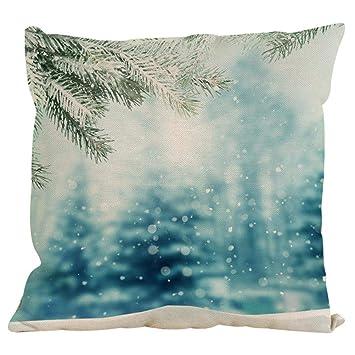 Serliy Weihnachten Flauschige Kissenbezuge Spannbettlaken Hause