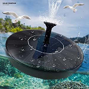 Solar Fountain Pump for Bird Bath 1.5W Solar Powered Floating Water Pump Fountain Panel Kit for Small Pond, Fish Tank, Patio, Garden Decoration - Upgraded Waterflow Sprinkler Fountain