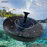 Solar Fountain Pump 1.5W for Bird Bath, Small Pond, Fish Tank, Patio, Garden Decoration - Upgraded Solar Powered Water Pump Panel Kit