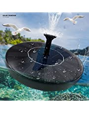 Solar Fountain Pump 1.5W for Bird Bath, Small Pond, Fish Tank, Patio, Garden Decoration - Upgraded Solar Powered Water Pump Panel Kit