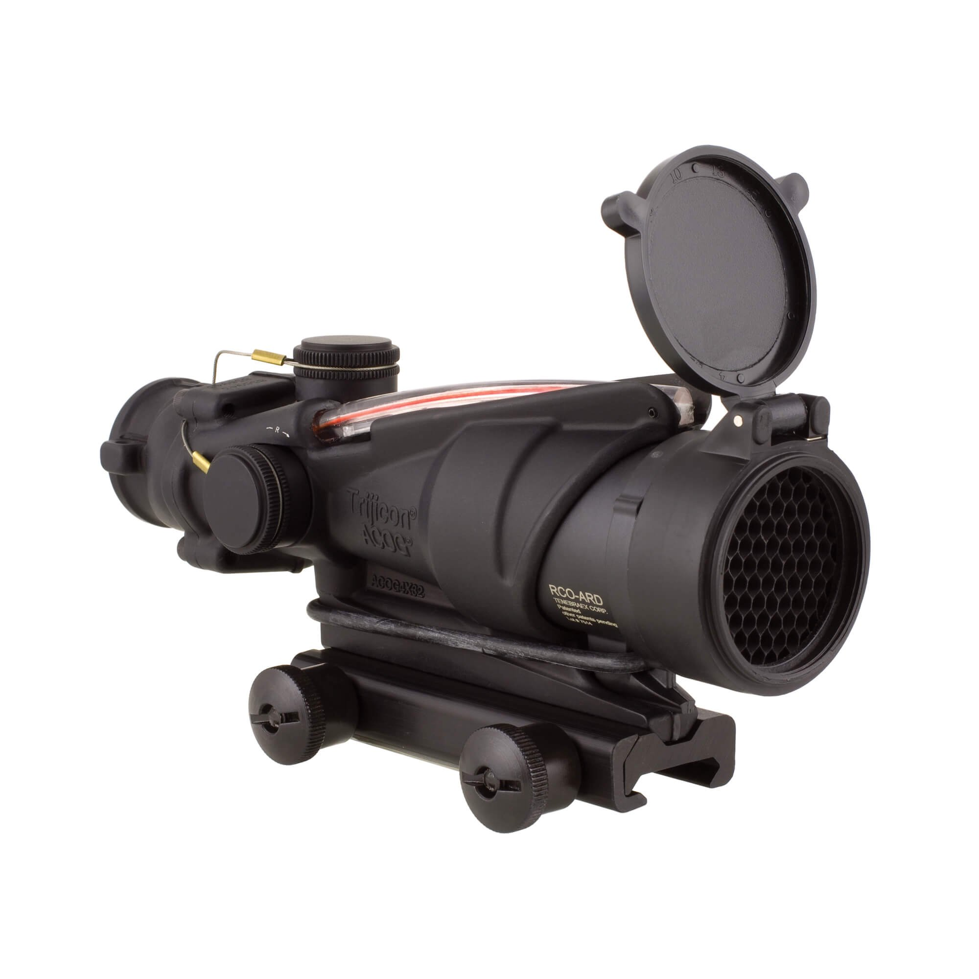 Trijicon TA31RCO-M150CP ACOG 4x32 BAC Rifle Optic with Red Chevron Reticle by Trijicon