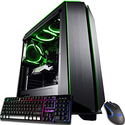 CUK Mantis Custom Gaming PC (Liquid Cooled Intel i7-9700K, 16GB DDR4-2666  RAM, 500GB SSD, NVIDIA GeForce RTX 2080 8GB, 600W Gold PSU, Windows 10) The