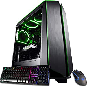 CUK Mantis Gaming PC (Liquid Cooled Intel Core i9-9900K, NVIDIA GeForce RTX 2080 Ti 11GB, 32GB RAM, 1TB NVMe SSD + 2TB, 750W Gold PSU, Z390 Motherboard) Best Tower Desktop Computer for Gamers