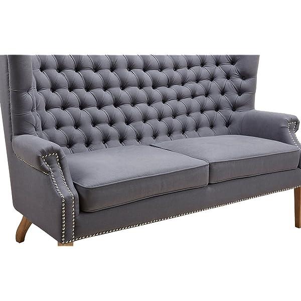 Tov Furniture Abe Linen Wing Loveseat, Grey