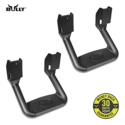 Bully BBS-1103 Universal Truck Black Powder Coated Side Step Set, 2 Pieces (1 Pair), Includes Mounting Brackets - Fits Various Trucks from Chevy (Chevrolet), Ford, Toyota, GMC, Dodge RAM and Jeep: Automotive