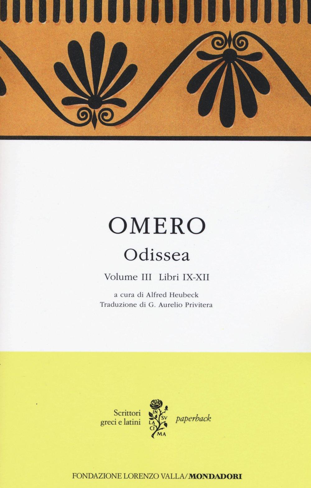 Odissea Testo Greco A Fronte Omero 9788804648734 Amazon Com Books