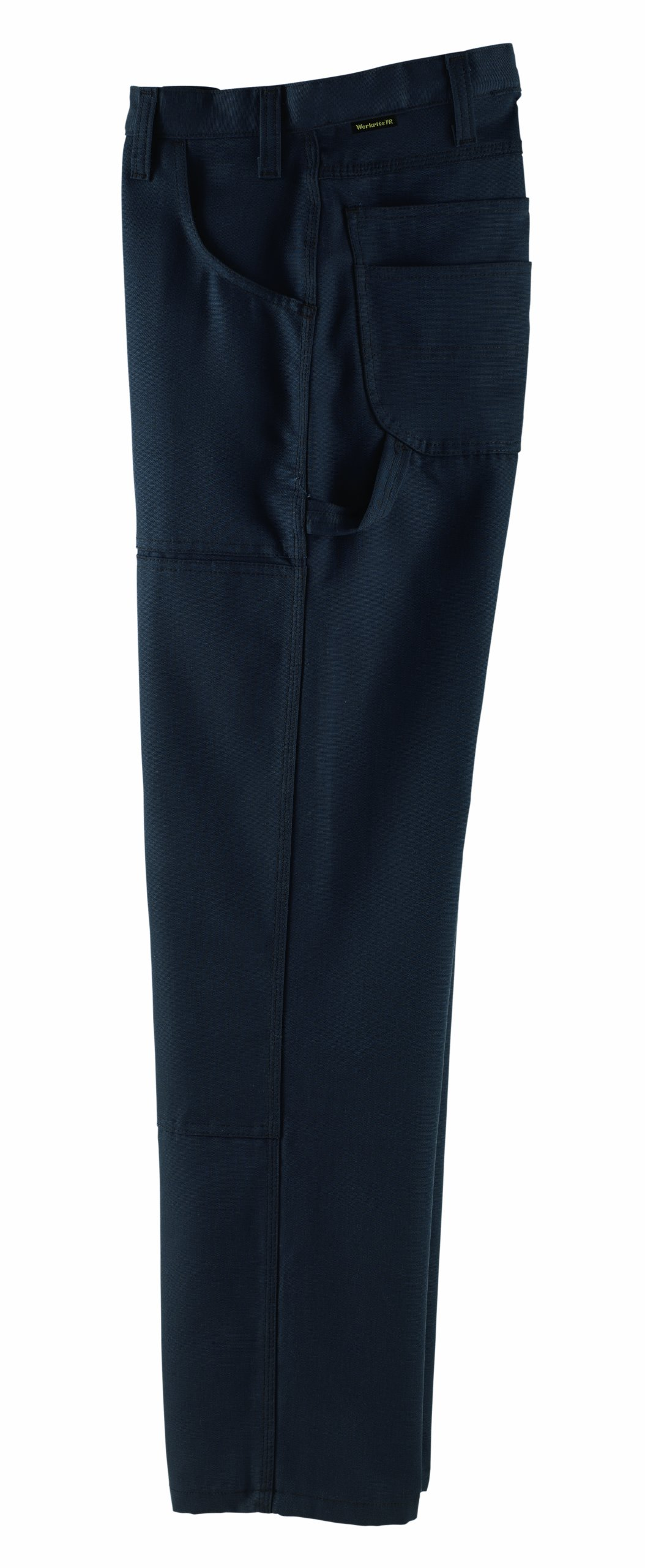 Workrite 416UT80NB35-XX Flame Resistant 8 oz UltraSoft Basket Weave Double Knee Pant, 35 Waist Size, Open Inseam, Navy Blue