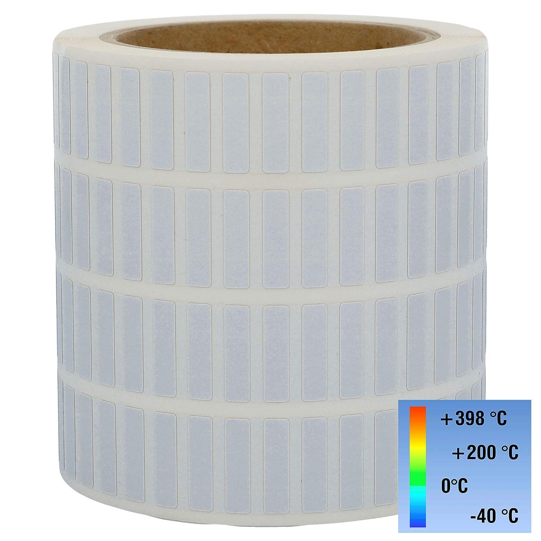 """3000 Etiketten Papier 51 x 25mm 1/"""" Kern weiß ablösbar 1-bahnig"""