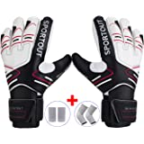 Youth&Adult Goalie Goalkeeper Gloves,Strong Grip for The Toughest Saves, With Finger Spines to Give Splendid Protection to Prevent Injuries