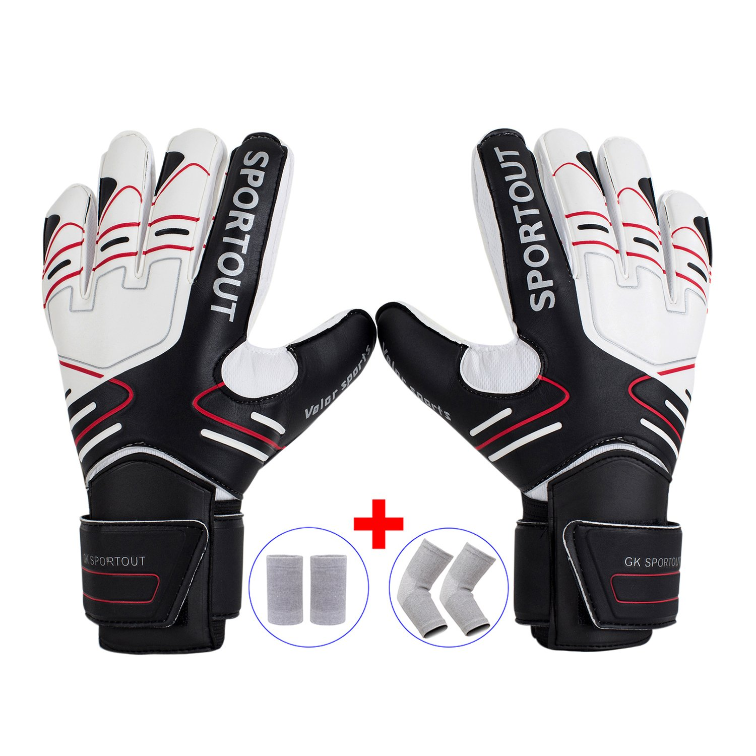 TimeBus Youth&Adult Goalie Goalkeeper Gloves,Strong Grip for The Toughest  Saves, With Finger Spines